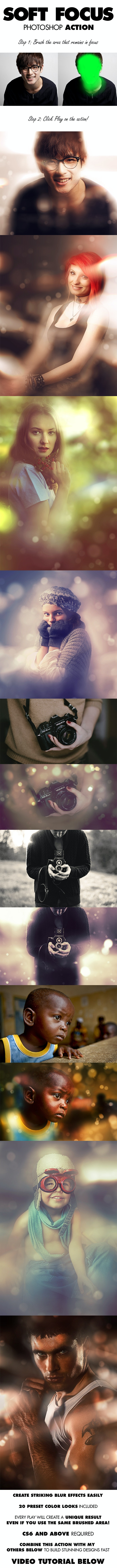 Soft Focus Photoshop Action - Photo Effects Actions
