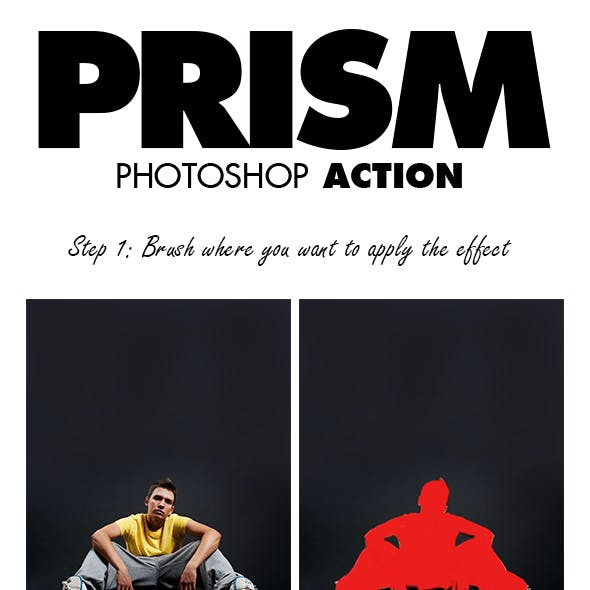 Prism Photoshop Action