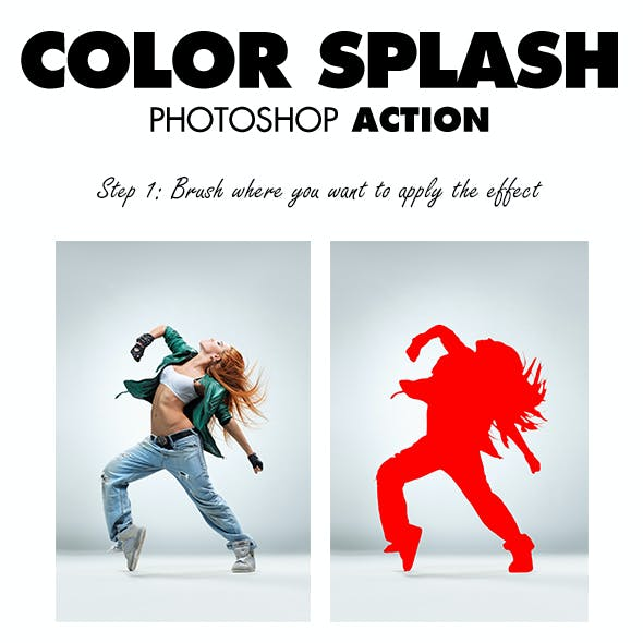 Color Splash Photoshop Action