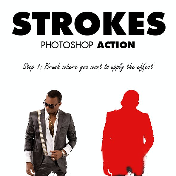 Strokes Photoshop Action