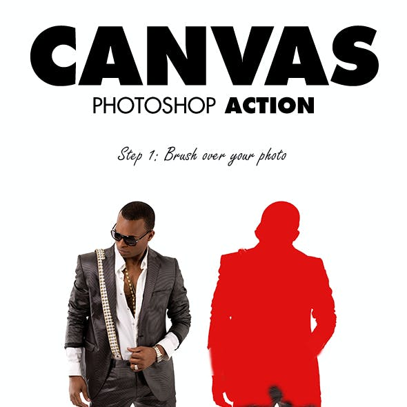 Canvas Photoshop Action
