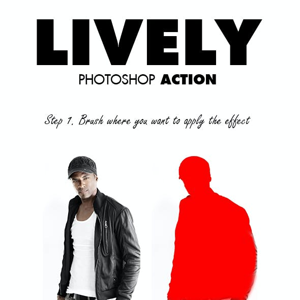 Lively Photoshop Action