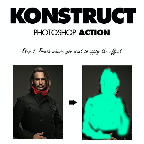Konstruct Photoshop Action