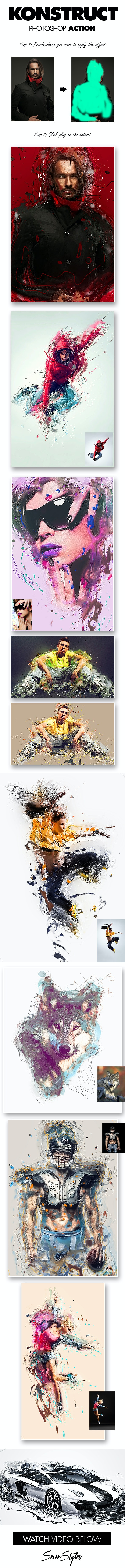 Konstruct Photoshop Action - Photo Effects Actions