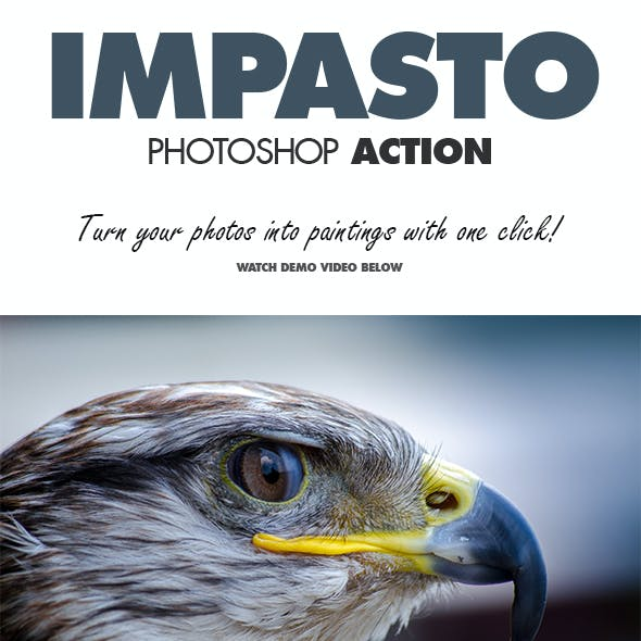 Impasto Photoshop Action