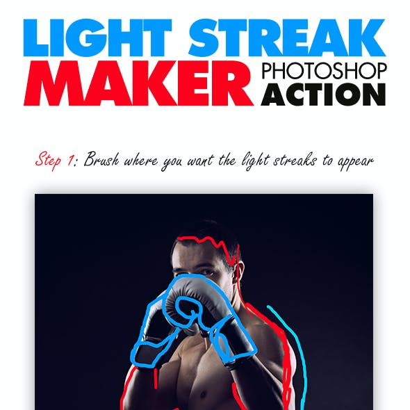 Light Streak Maker Photoshop Action