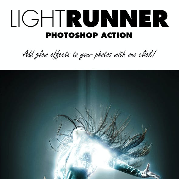 Light Runner Photoshop Action