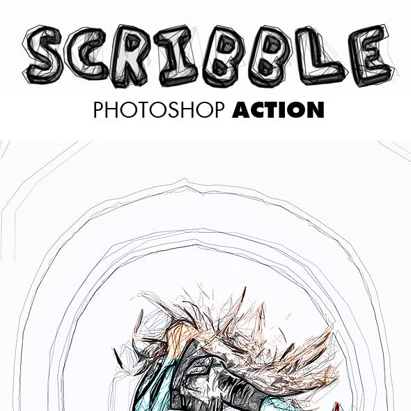 Scribble Photoshop Action