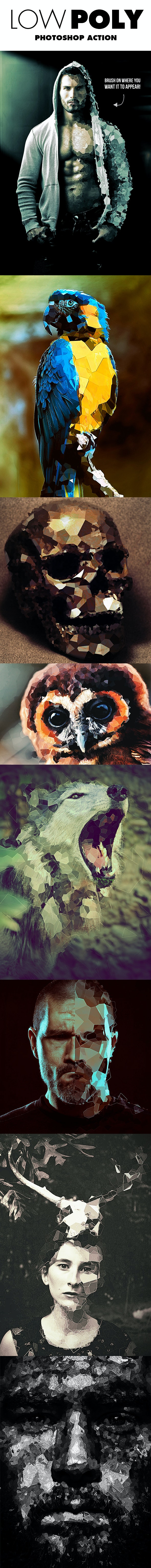 Low Poly Photoshop Action - Photo Effects Actions