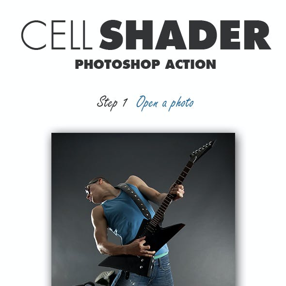 Cell Shader Photoshop Action
