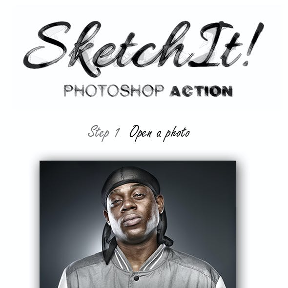 SketchIt Photoshop Action