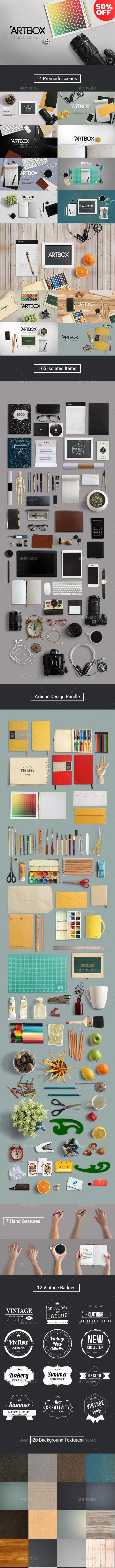 ArtBox - Artistic Mockup Kit - Hero Images Graphics