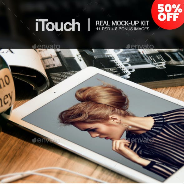 iTouch - 12 Photorealistic MockUp