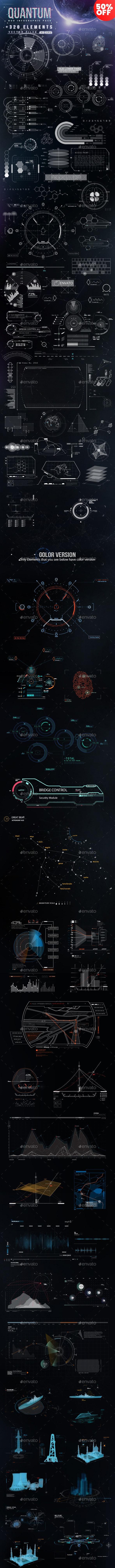Quantum - HiTech HUD Creator Kit - Infographics