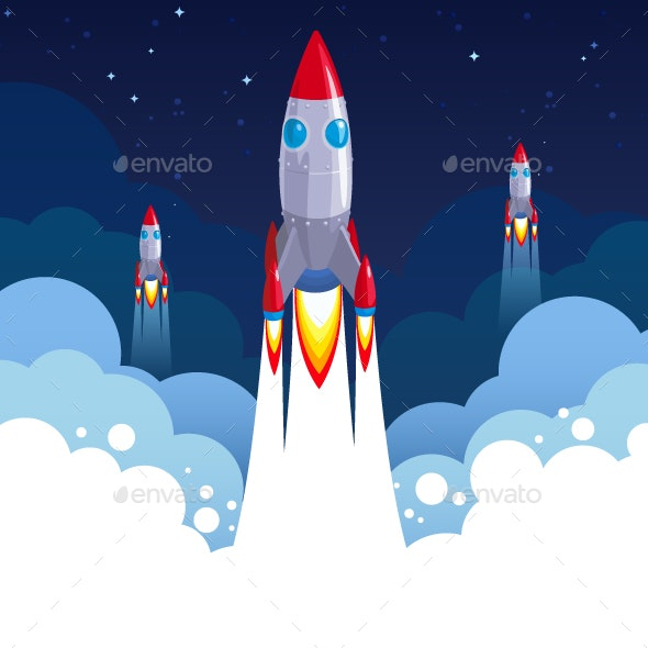 Business Startup Rocket Concept - Concepts Business