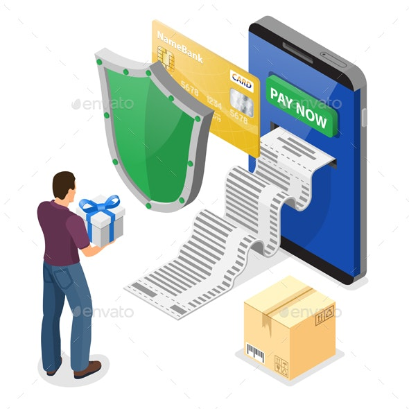 Internet Shopping and Online Payments Concept - Web Technology