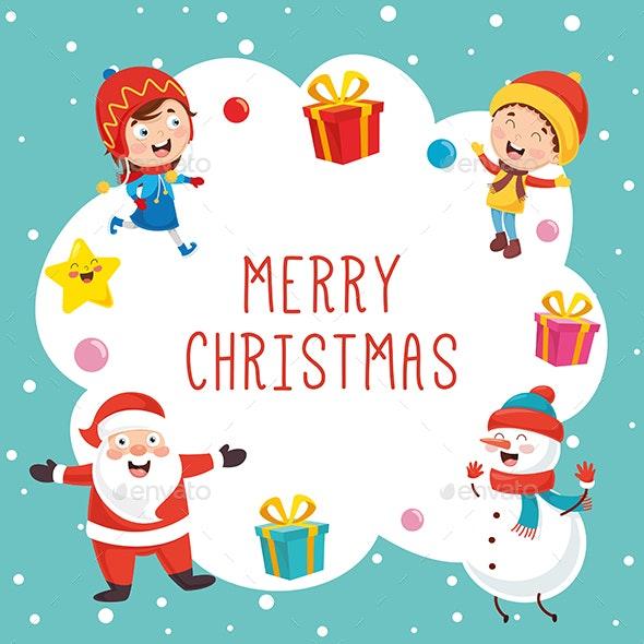 Vector Illustration of Christmas - New Year Seasons/Holidays