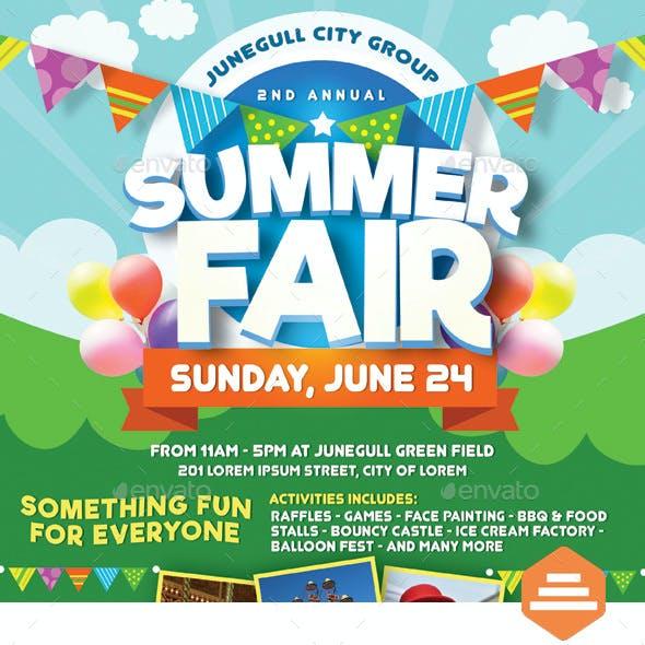 45 Cool Free Summer Fair Flyer Template Summer Background