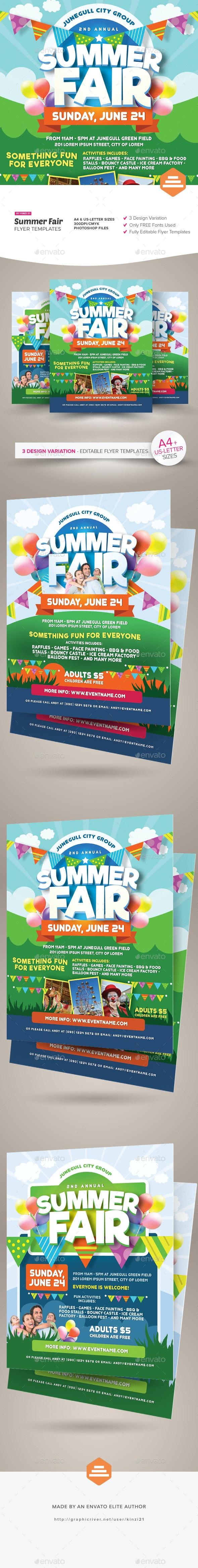 Summer Fair Flyer Templates - Miscellaneous Events