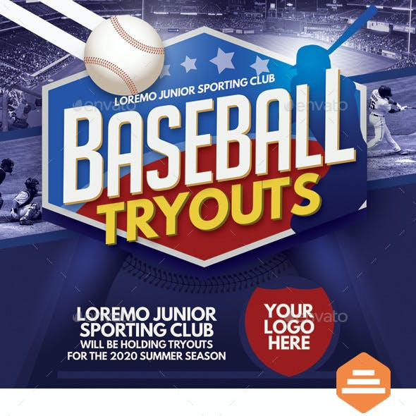 Baseball Tryouts Flyer Templates
