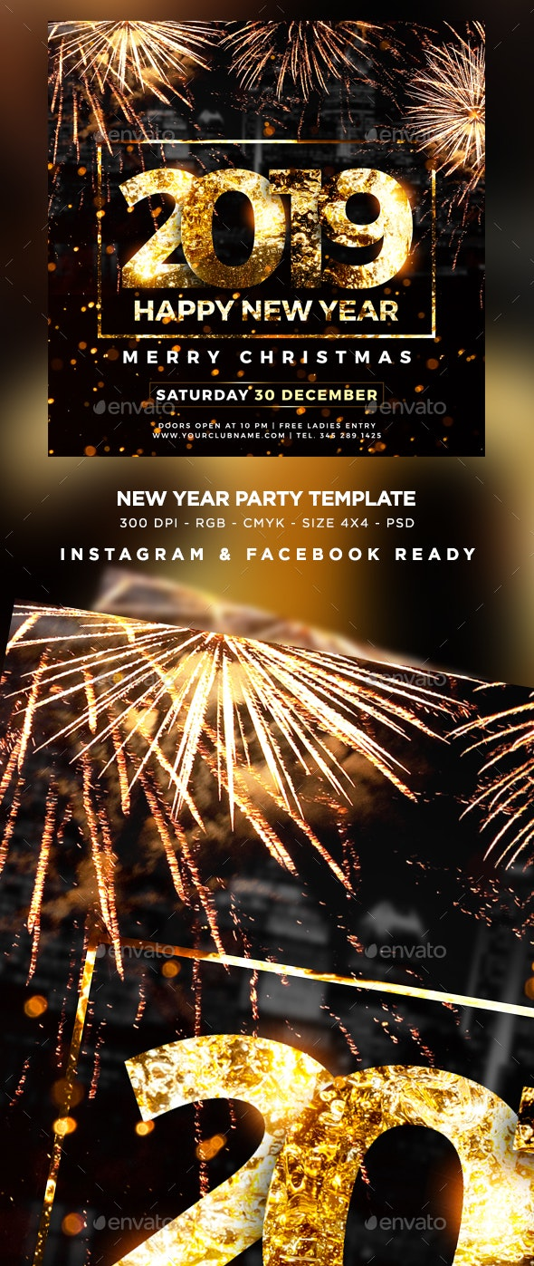 New Year 2019 Flyer - Events Flyers