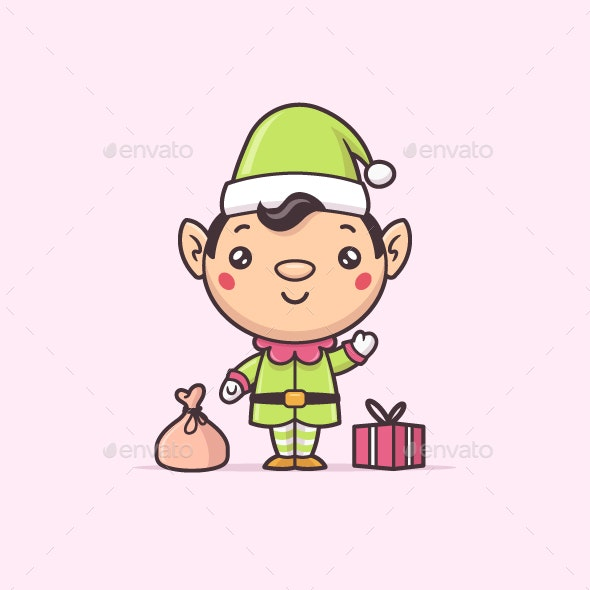 Christmas Elf Kawaii - Christmas Seasons/Holidays