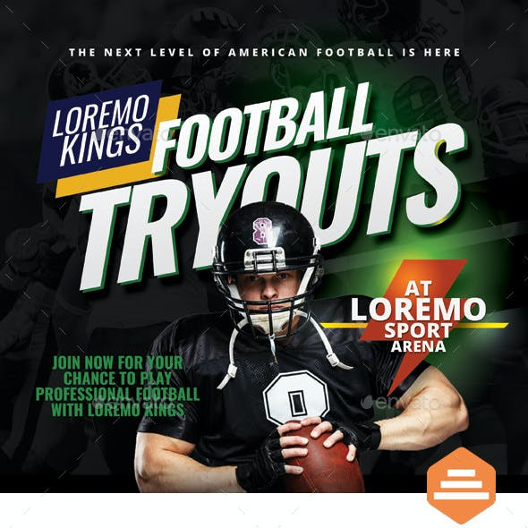 Football Tryouts Flyer Templates