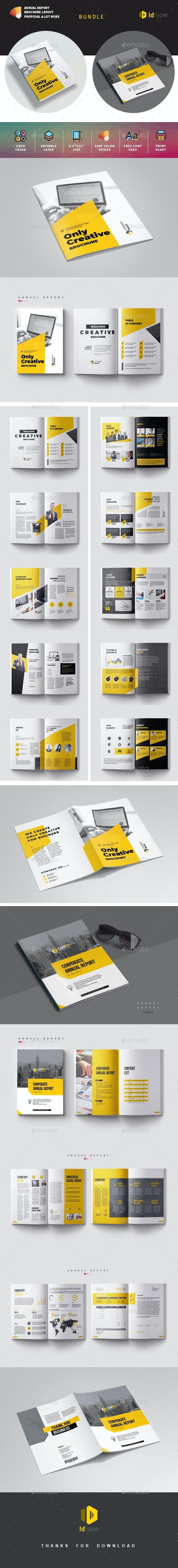 Annual Report Template Bundle - Magazines Print Templates