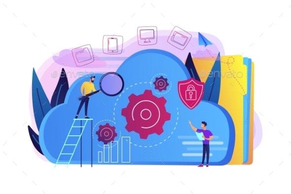 Cloud Storage Concept Vector Illustration. - Technology Conceptual