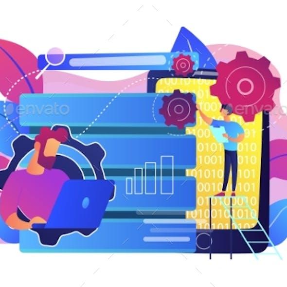 Big Data Applications Concept Vector Illustration.