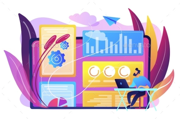 Attribution Modeling Concept Vector Illustration. - Business Conceptual