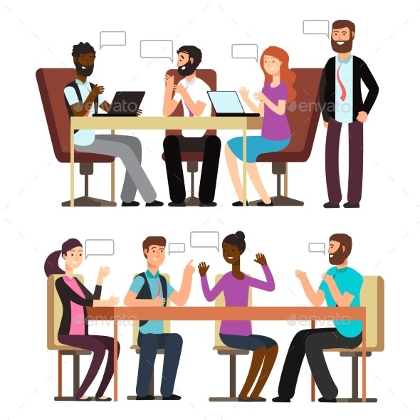 Business People Conversation in Business - Miscellaneous Vectors