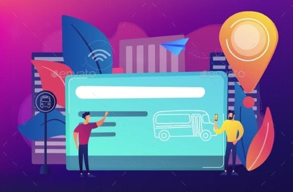 Public Transport Travel Pass Card Concept Vector - Technology Conceptual