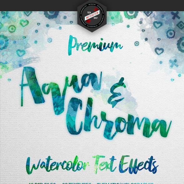 Aqua & Chroma Watercolor Texture Effects