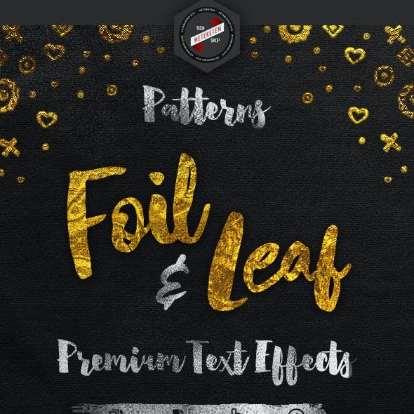 Foil & Leaf Gold Foil Text Effects: Pattern Foil