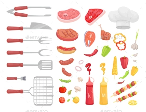 BBQ Set - Food Objects