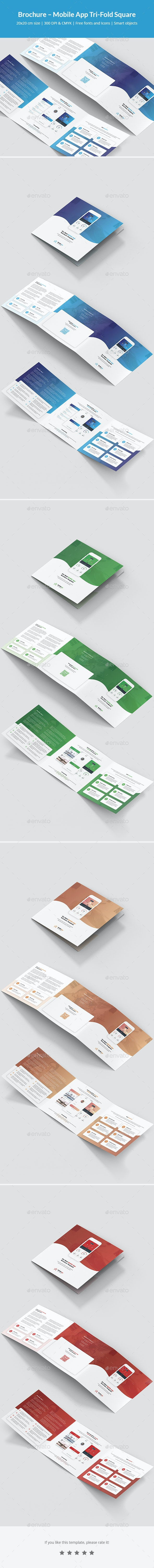Brochure – Mobile App Tri-Fold Square - Informational Brochures