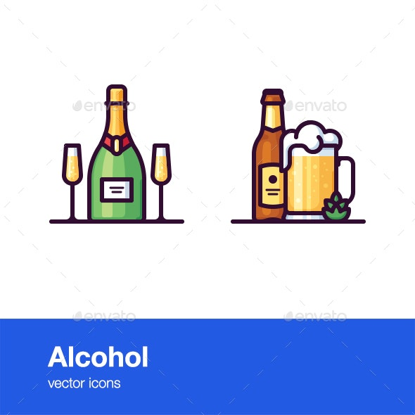 Alcohol Icons - Objects Icons