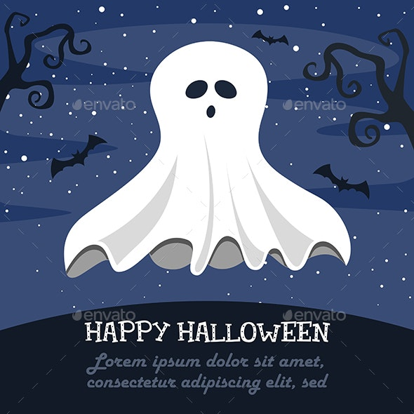 Vector Illustration Of Halloween - Christmas Seasons/Holidays