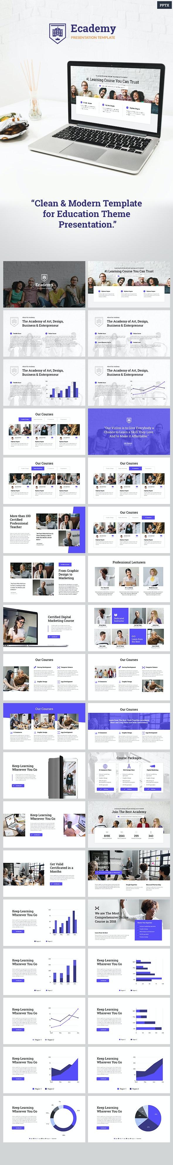 Ecademy - Powerpoint Template - PowerPoint Templates Presentation Templates
