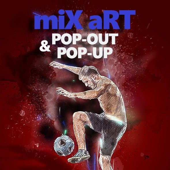 Mix Art and Pop-up