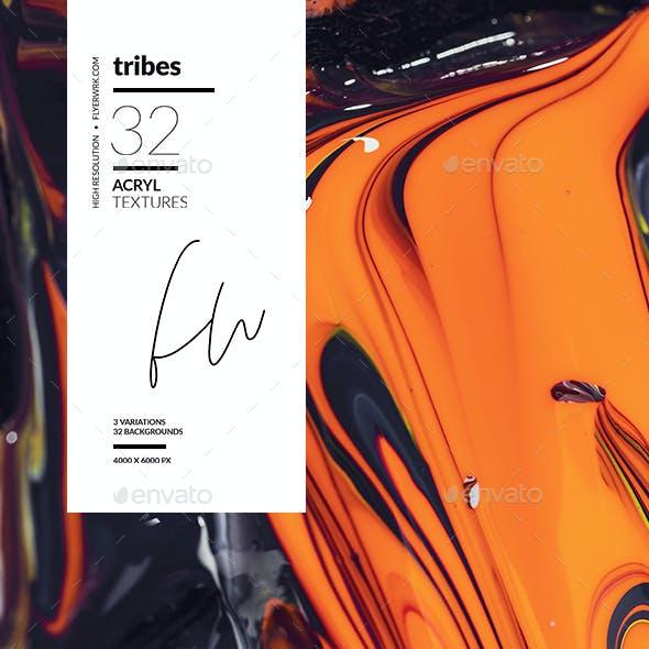 Tribes - 32 Handmade Acryl textures