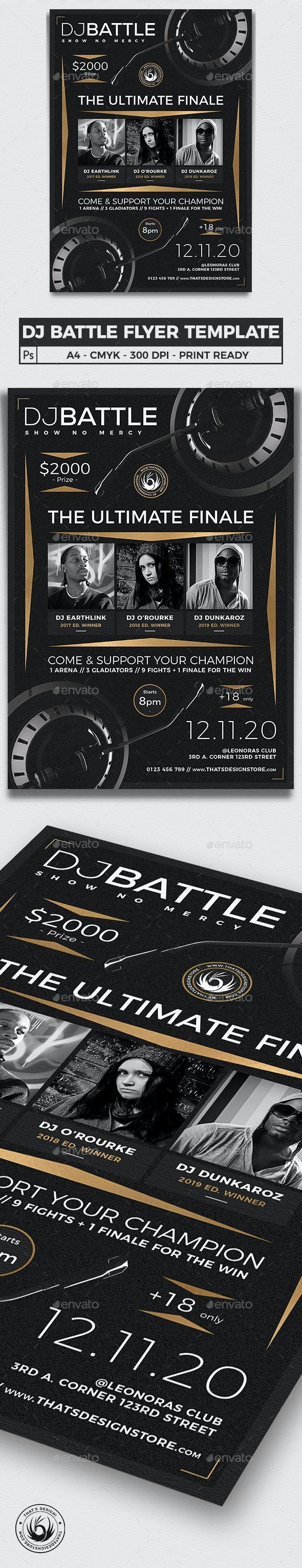 DJ Battle Flyer Template V6 - Concerts Events