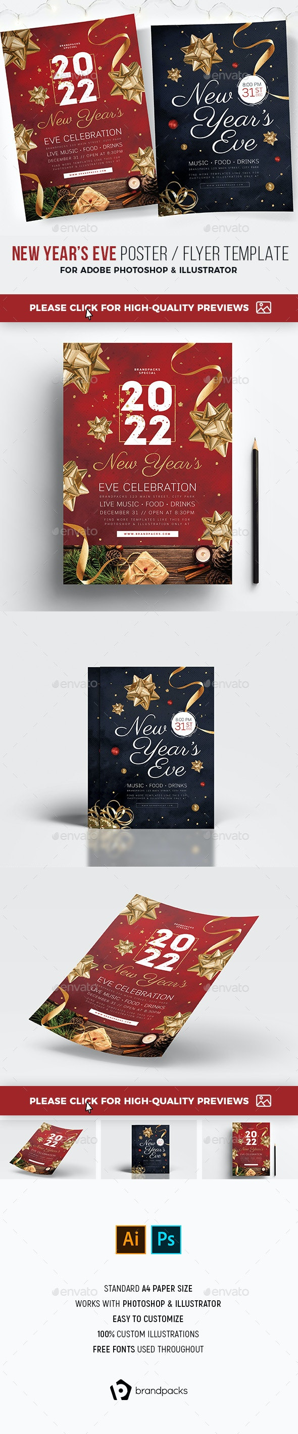 NYE Poster / Flyer - Holidays Events