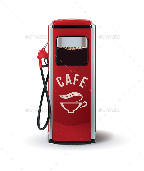 Gas Pump with Coffee Dispenser - Concepts Business