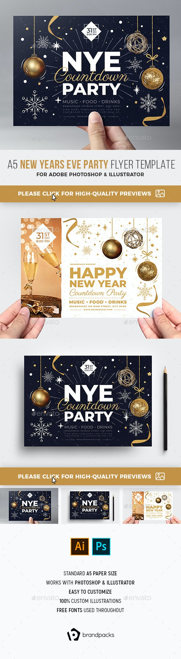 NYE Party Flyer - Holidays Events