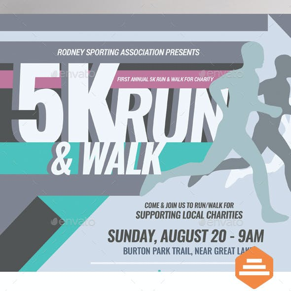 5K Run Flyer and Poster Templates