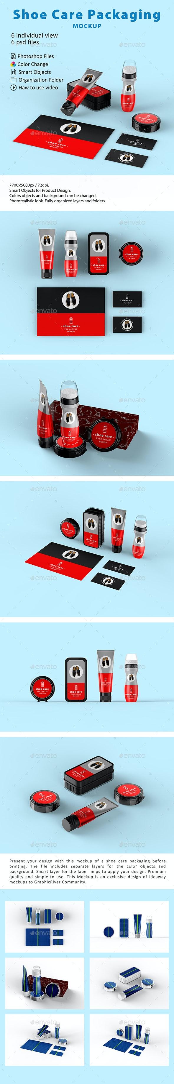 Shoe Care Packaging Mockup - Packaging Product Mock-Ups