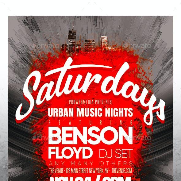 Urban Party Flyer