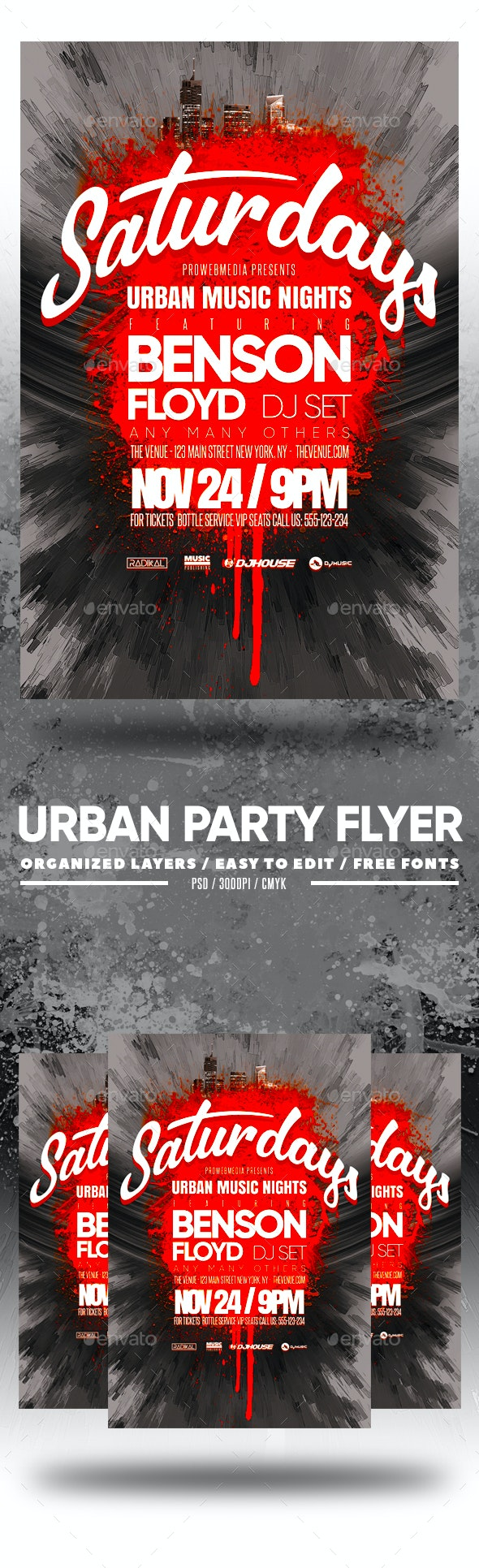 Urban Party Flyer - Clubs & Parties Events